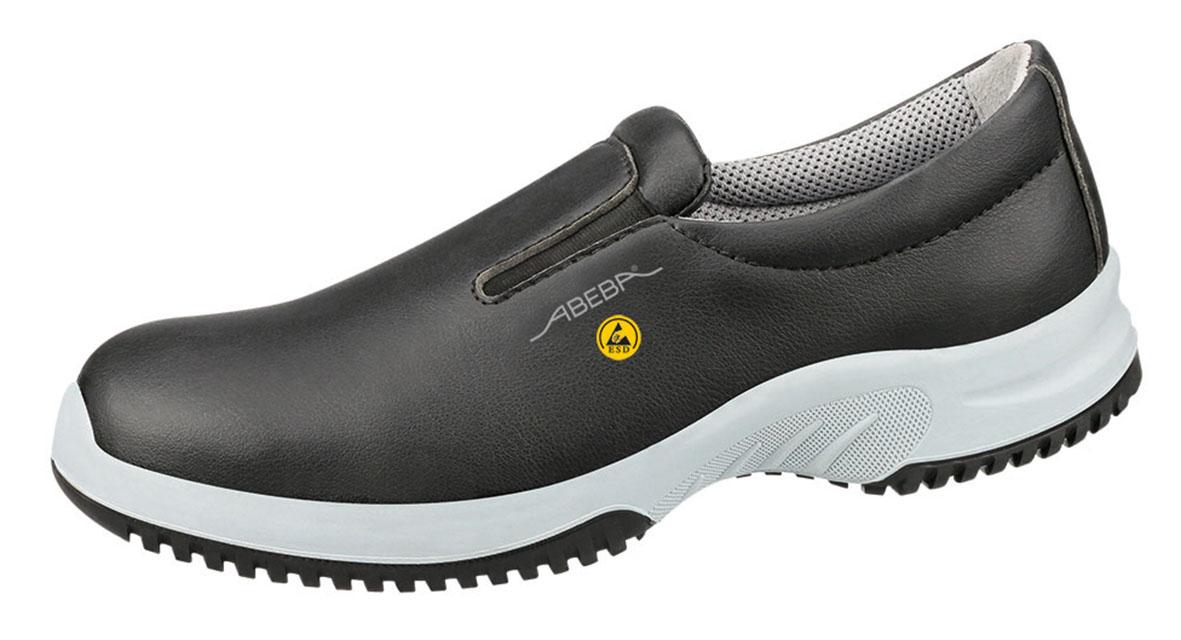 low priced 2f8f6 cc25b ABEBA-O2-Uni6-Damen- und Herren-Arbeits-Berufs-Schuhe, Slipper, ESD, schwarz