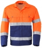 HAVEP-Warnschutz-Blousonjacke, 290 g/m², marine/fluor-orange