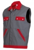 BP-Workwear, Arbeitsweste, Weste Cotton Plus dunkelgrau/rot