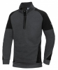 BP-Herren-Sweatshirt-Troyer, BPlus Modern Stretch, anthrazit/schwarz