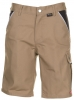 PLANAM-Workwear, Arbeits-Berufs-Shorts, MG Canvas 320, khaki/schwarz