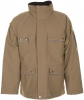 PLANAM Winter-Parka Canvas 320 khaki/schwarz