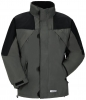 PLANAM Winter-Jacke Redwood zink/schwarz