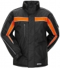 PLANAM Winter-Jacke Cosmic schwarz/orange