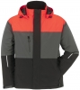 PLANAM-Winter-Jacke, Aviator, Outdoor, rot/grau/schwarz