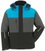 PLANAM-Winter-Jacke, Aviator, Outdoor, blau/grau/schwarz