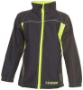 PLANAM-Junior Softshell Jacke, anthrazit/gelb