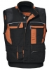 PKA-Workwear, Arbeitsweste, Threeline De Luxe, 330g/qm, schwarz/orange