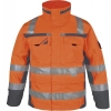 PKA-Winter-Warn-Schutz-Parka, ca. 280g/qm, orange/grau