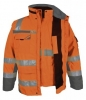 PKA-Winter-Warn-Schutz-Parka 3in1, ca. 280g/qm, orange/grau
