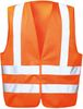 F-WicaTex Polyester Warn-Schutz-Weste Karl orange