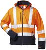 F-ELYSEE Softshell Warn-Schutz-Jacke Bill orange/marine