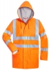 F-NORWAY-Warnschutz, Multinorm-PU-Regenjacke, *FRIDBERT*, fluoreszierend orange