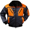 F-NORWAY Winter-Piloten-Berufs-Jacke, Halden, marine/orange