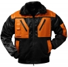 F-NORWAY-Winter-Piloten-Berufs-Jacke, OSLO, schwarz/orange