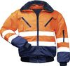 F-NORWAY 4 in 1 Warnschutz-Piloten-Warn-Jacke Erik orange/marine