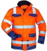 F-SAFESTYLE-Warnschutz-Parka, *BOTHO*, fluoreszierend orange/marine