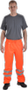 OCEAN-ABEKO-Nässe-Schutz, Komfort Light Warnschutz-Bundhose, High Vis,170g/m², orange