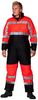 OCEAN-Warnschutz-Thermo-Overall, HIGH-VIS, Comfort Stretch, 170g/m², orange/marine