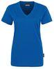 HAKRO-Women-T-Shirt, V-Ausschnitt Classic, royal