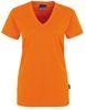 HAKRO-Women-T-Shirt, V-Ausschnitt Classic, orange