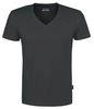 HAKRO-T-Shirt, V-Ausschnitt Slim-Fit, anthrazit