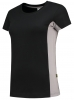 TRICORP-Damen-T-Shirt, Bicolor, 190 g/m², black-grey