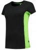 TRICORP-Damen-T-Shirt, Bicolor, 190 g/m², black-lime