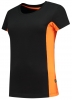 TRICORP-Damen-T-Shirt, Bicolor, 190 g/m², black-orange