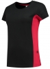 TRICORP-Damen-T-Shirt, Bicolor, 190 g/m², black-red