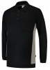 TRICORP-Polosweater, mit Brusttasche, Bicolor, 280 g/m², black-grey