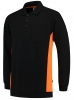 TRICORP-Polosweater, mit Brusttasche, Bicolor, 280 g/m², black-orange