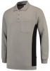 TRICORP-Polosweater, mit Brusttasche, Bicolor, 280 g/m², grey-black