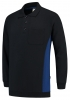 TRICORP-Polosweater, mit Brusttasche, Bicolor, 280 g/m², navy-royalblue
