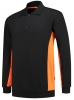 TRICORP-Sweatshirt mit Polokragen, 280 g/m², black-orange